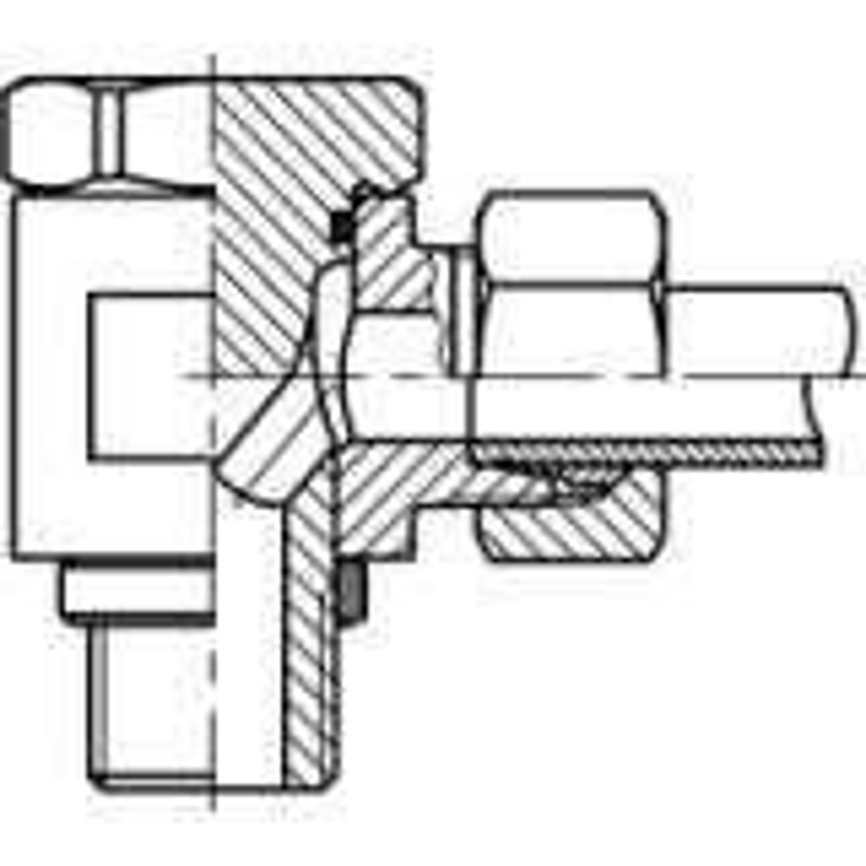Leikkuurengasliitin Suora WHB G-kierre L-sarja ruostumaton